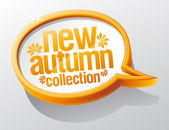 New autumn collection speech bubble. — Stock Vector