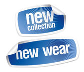 New wear collection stickers — Stock Vector