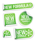 Nuovi formula adesivi. — Vettoriale Stock