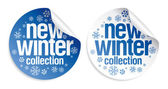 New winter collection stickers — Stock Vector