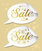 Winter Sale stickers — Stock Vector