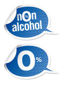 Non-alcohol drinks stickers — Stock Vector