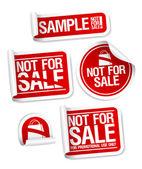 échantillon non pour autocollants de vente. — Vecteur