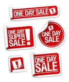 Etiquetas engomadas de la venta de un día. — Vector de stock