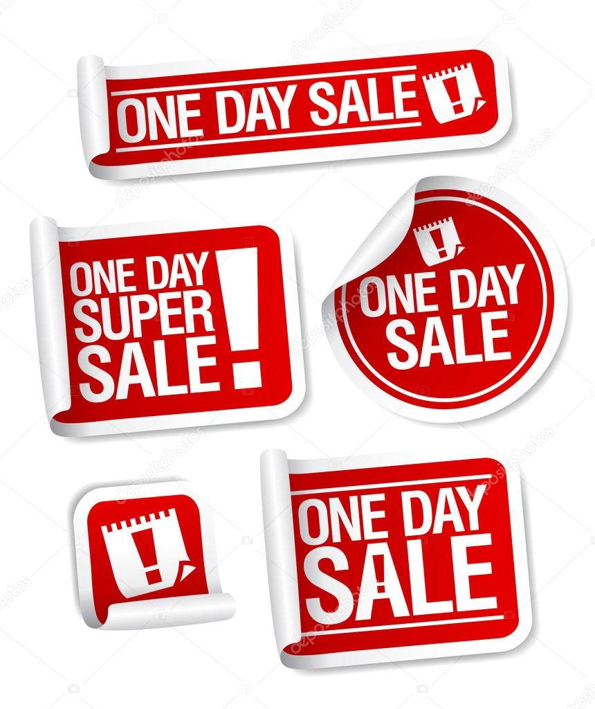 One Day Sale stickers set. — Stock Vector #14198710