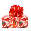 Gift box with red bow. — Stock Photo #14200211