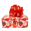 Gift box with red bow. — Stock Photo