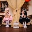 Girls dressed as dolls. — Stock Photo #14200340