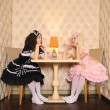 Girls dressed as dolls. — Stock Photo #14200375