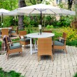 outdoor-café — Stockfoto