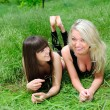 Foto Stock: Two pretty girls