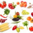 Collection of ripe fruits vegetables — Stock Photo