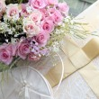 Stock Photo: Wedding bouquet of roses.