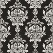 Black damask background — Photo