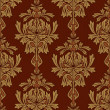 Red with gold damask background — 图库照片