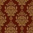 Red with gold damask background — Stock Photo