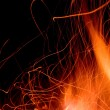 Fire and flames on a black background — Stock Photo #14207883