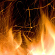 Stock Photo: Close-up of fire and flames