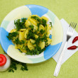 Potato with parsley — Stock Photo