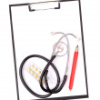 Medical clipboard and stethoscope — Stock Photo #14208067