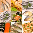 Stock Photo: Set of fish dishes