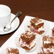 Biscuit cakes in a chocolate shaving - Foto de Stock