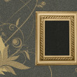 Frame on a grey background with a flower pattern - Stock Photo