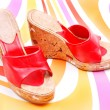 Red shoe — Stockfoto