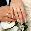 Just married couple hands — Stock Photo #14208589
