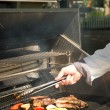 Preparing barbecue — Stock Photo