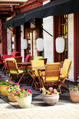 Outdoor cafe terrace — Stockfoto