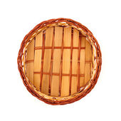 Fruit or bread basket on white — Stock Photo