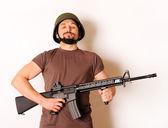 Armed man — Stock Photo