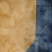 Jeans and paper. — Stock Photo