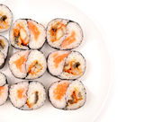 Rolls with a salmon and eel — Stock Photo