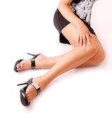 Sexy female legs — Stock Photo