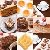 Set of photos of a cakes — Stock Photo