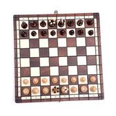 Beyaz satranç — Stok fotoğraf