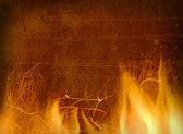 Close-up of fire and flames on a background — Stock Photo