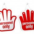 Personnel only signs. - Stock Vector