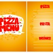 Pizza menu. — Stock Vector