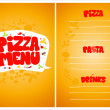 Pizza menu. — Stock Vector #14203666