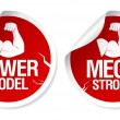 Strong stickers. — Stock Vector