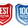 Best protection stickers. — Stock Vector