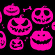 Royalty-Free Stock Vector Image: Halloween pumpkins.