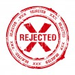 Rejected stamp — Stock Vector