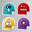 Funny Robots stickers. — Vecteur