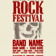 Royalty-Free Stock Vector Image: Rock festival design template.