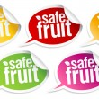 Stock Vector: Safe fruit stickers.