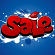 Christmas sale illustration. - Stockvektor